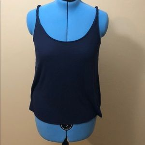 Ribbed tank with twisted straps